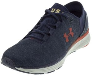 Under Armour Men's Charged Bandit 3 USA Shoes Midnight Navy and Glacier Gray