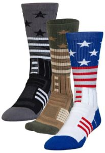 Under Armour Unrivaled Stars and Stripes Crew Socks Large