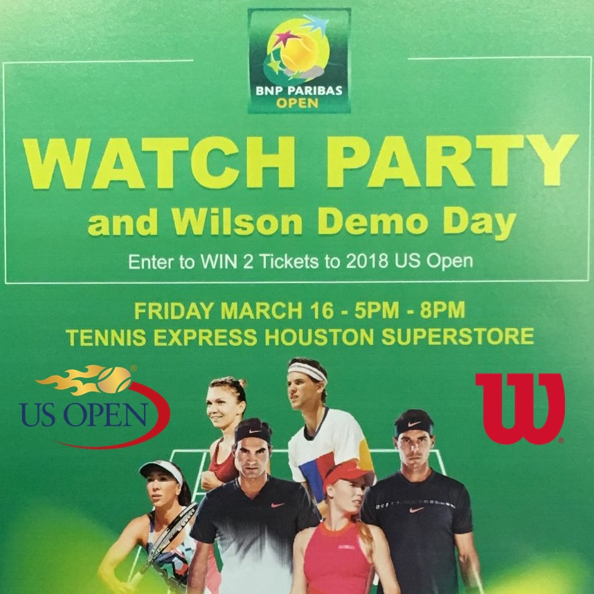 Watch Party, Wilson Demos, and 2018 US Open Tickets