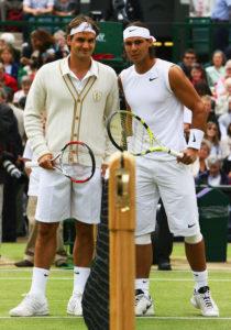 Roger and Rafa at Wimbledon