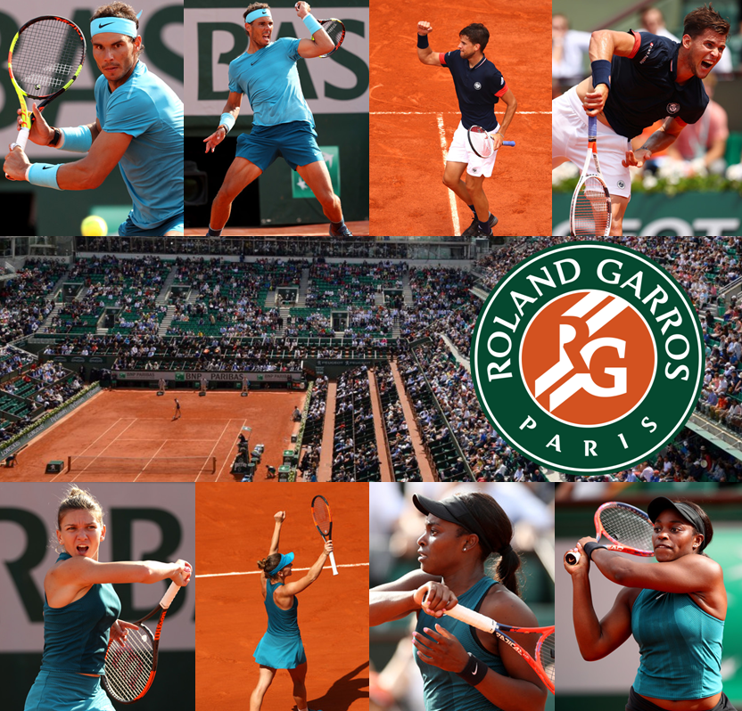 World #1s Nadal and Halep to Face Thiem and Stephens in French Open Finals