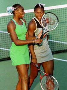 Young Venus and Serena Williams