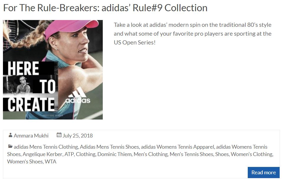 Adidas Rule#9 Collection Blog Thumbnail
