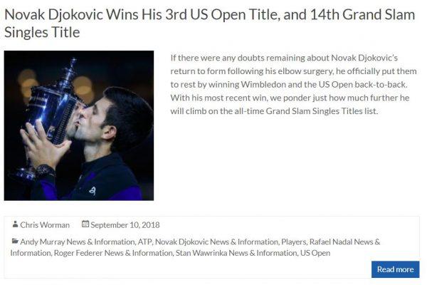 Djokovic Wins Third US Open Title Blog Thumbnail