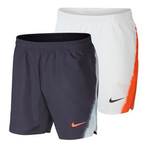 Rafael Nadal Court Flex Ace Pro Shorts in Gray and Orange