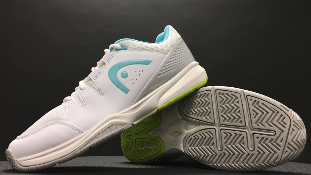 Women's Brazer Tennis Shoes in White and Silver