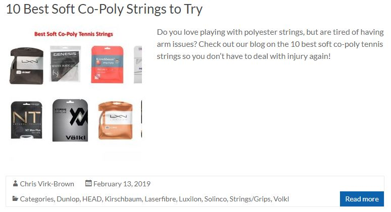 Best Soft Co-Poly Strings Blog Thumbnail